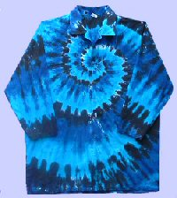 Blues Spiral Tie-dye Doctor Coat