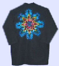 Rainbow-Black Star on Black Tie-dye Doctor Coat