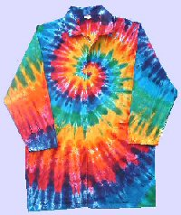 Rainbow Spiral Tie-dye Doctor Coat
