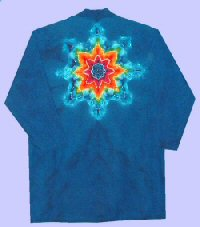 Tie-dye Doctor Coat Rainbow Star on Blue