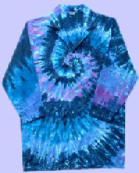 Raspberry Spiral Tie-dye Doctor Coat